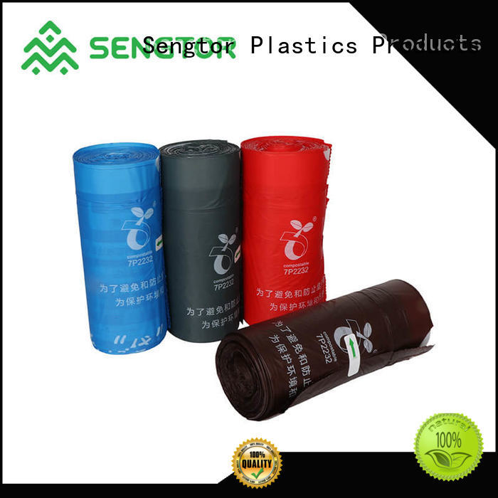 Sengtor brown blue recycle trash bags wholesale for shopping