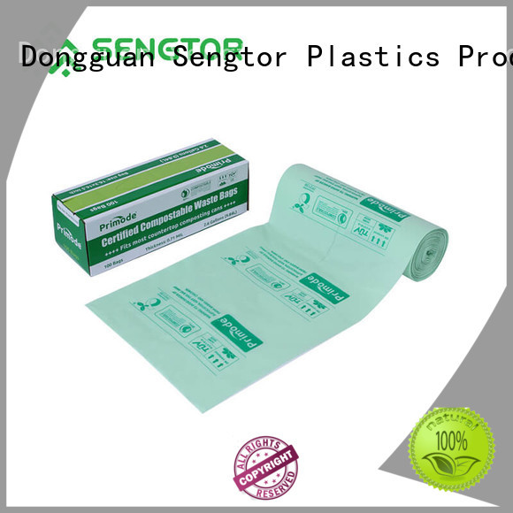 Sengtor brown biodegradable garbage bags factory for shopping