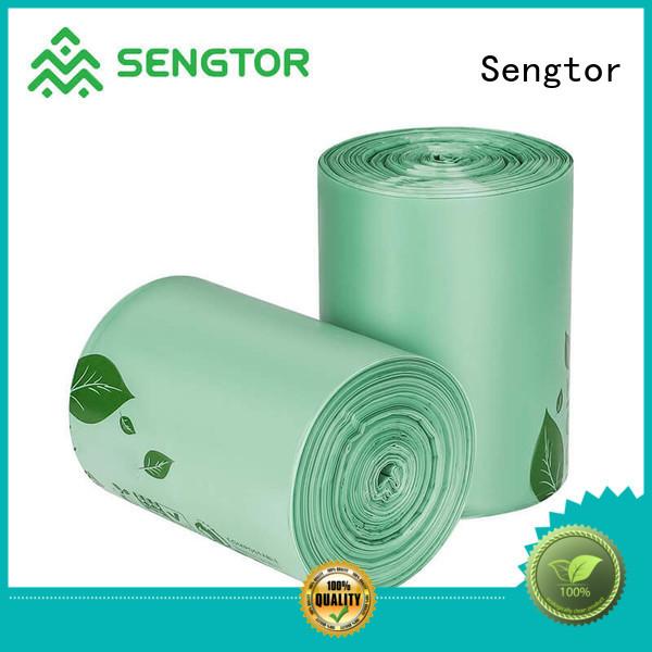 Sengtor drawstring blue recycle trash bags manufacturer for worldwide customers