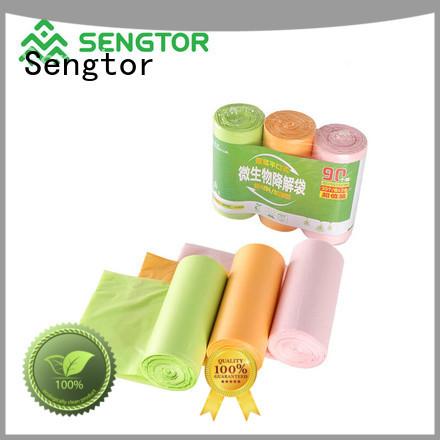 Sengtor food biodegradable garbage bags bulk production for shopping