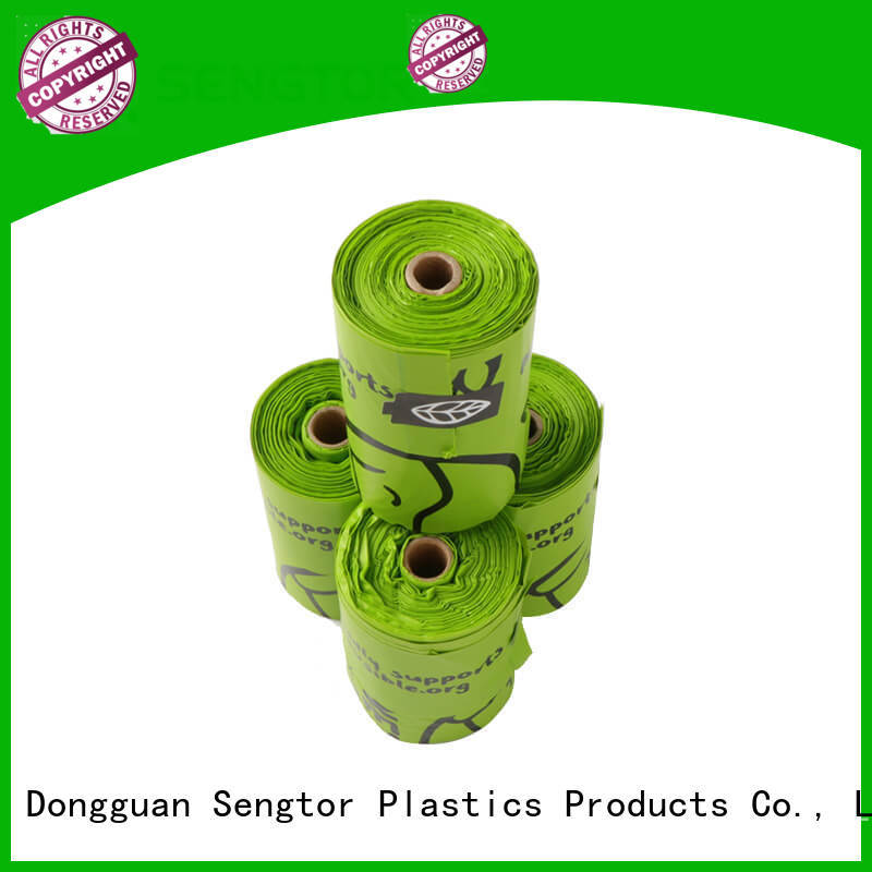 Sengtor earth biodegradable pet waste bags free design for worldwide customers