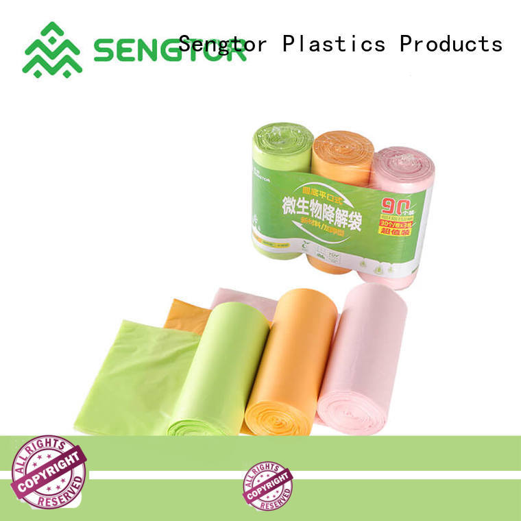 Sengtor floral biodegradable bags manufacturers long-term-use for cleaning