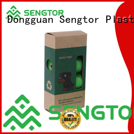 Sengtor low cost compostable dog poop bags wholesale for worldwide customers