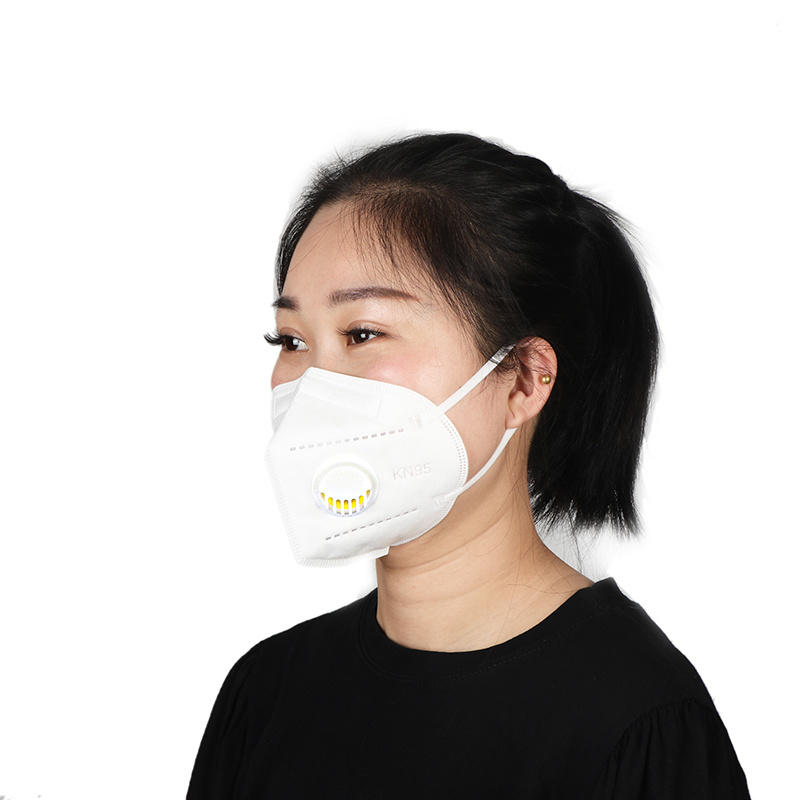 Stock KN95 with valve  Labor Protection Mask Disposable Anti Dust Pollution PM2.5 Face Mouth Mask