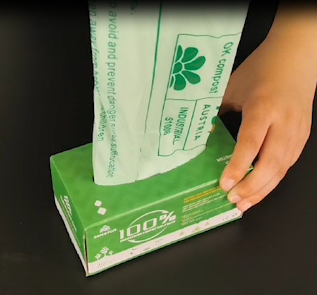 100% Compostable Trash Bags, 2.6 Gallon Drawstring