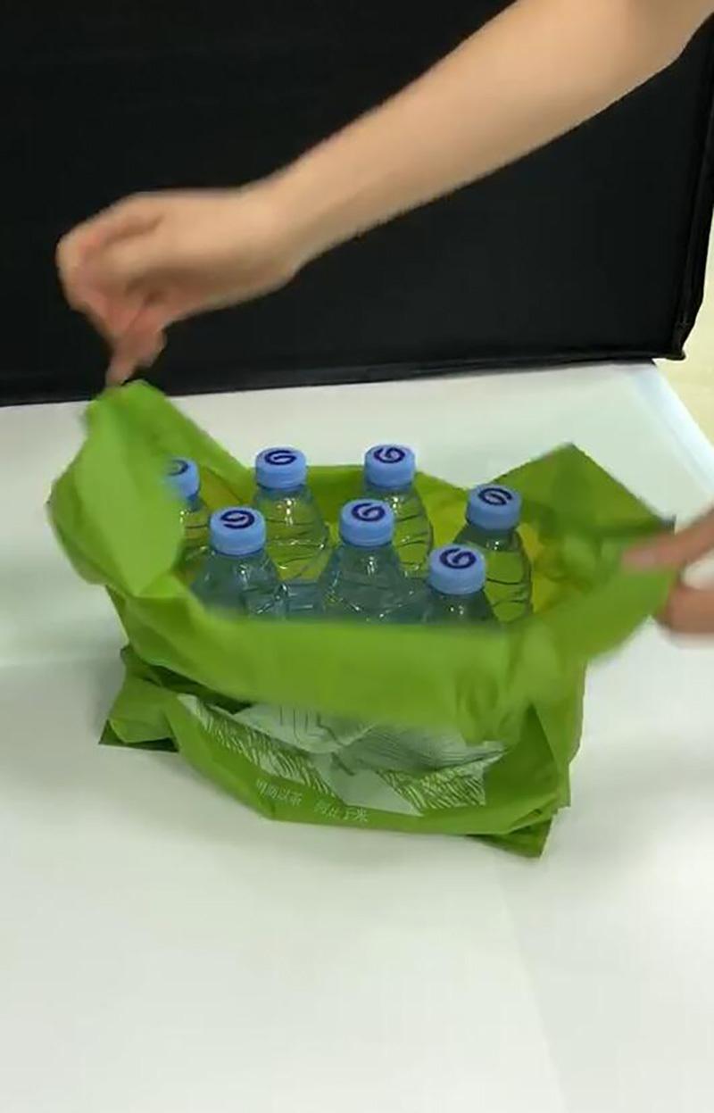 Vest degradable bag product video
