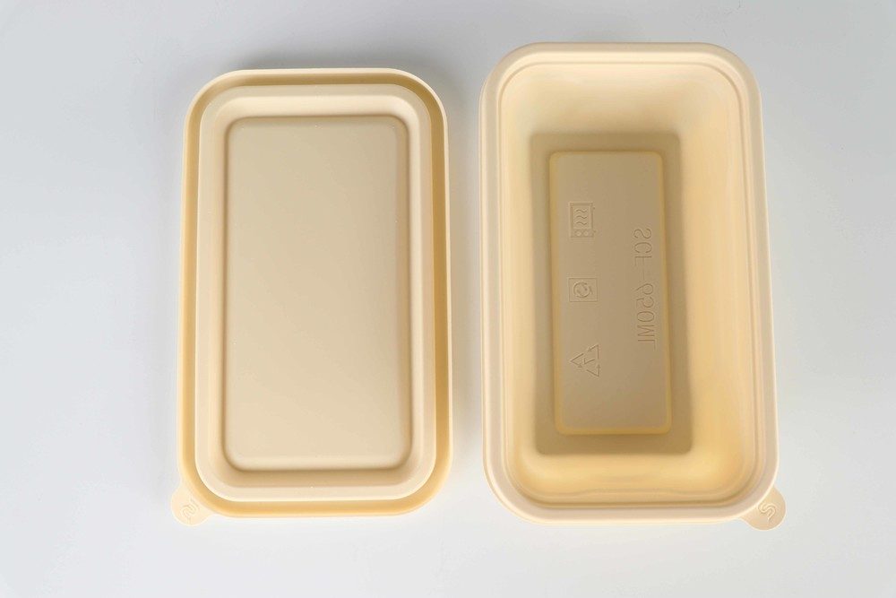 Disposable degradable environmental protection lunch box