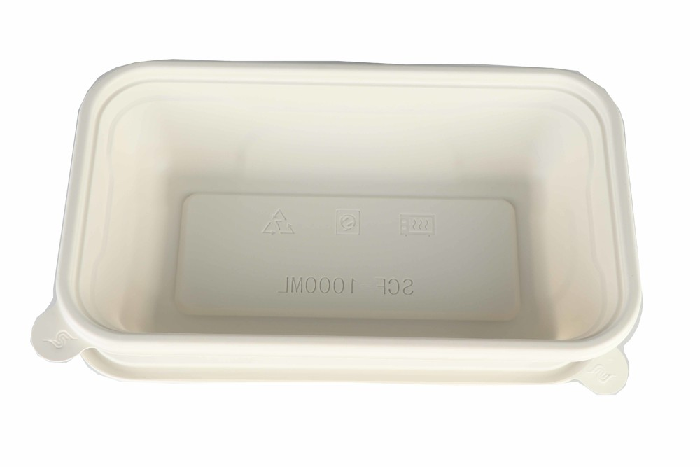 White disposable degradable lunch box