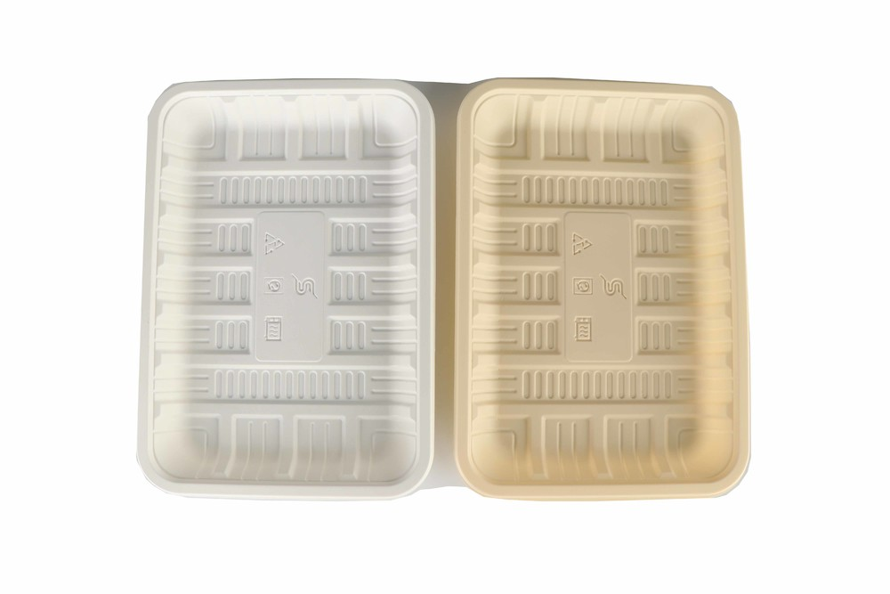 Disposable biodegradable tray