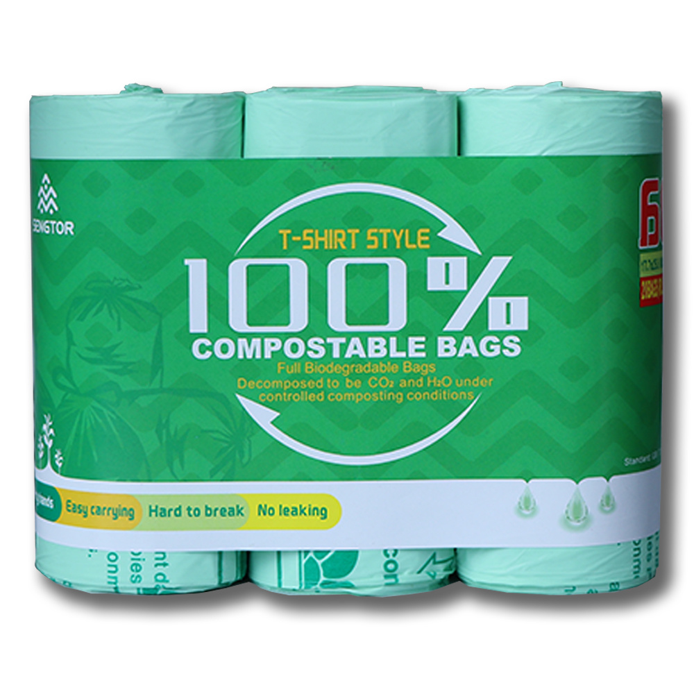 Biodegradable vest bag