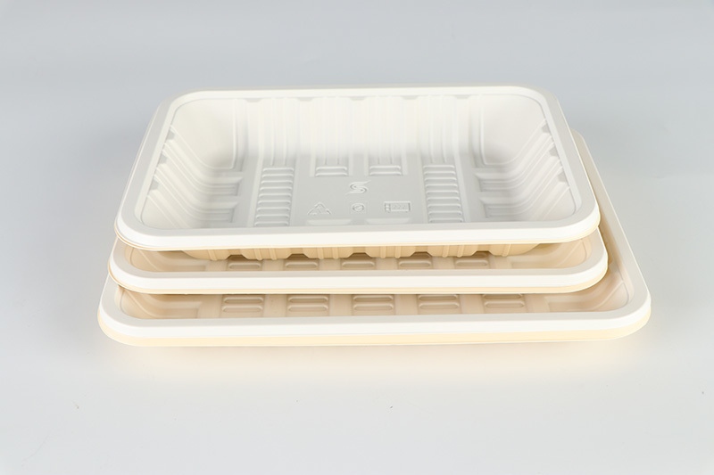 fully biodegradable tray (5 grids)