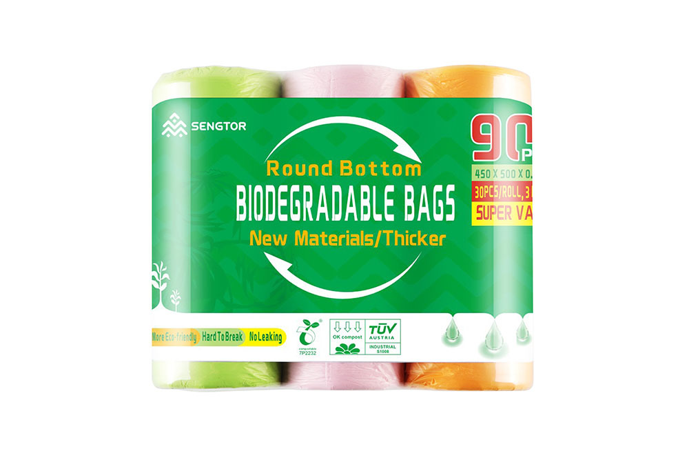 Biodegradable garbage bags (90 pieces / bag)