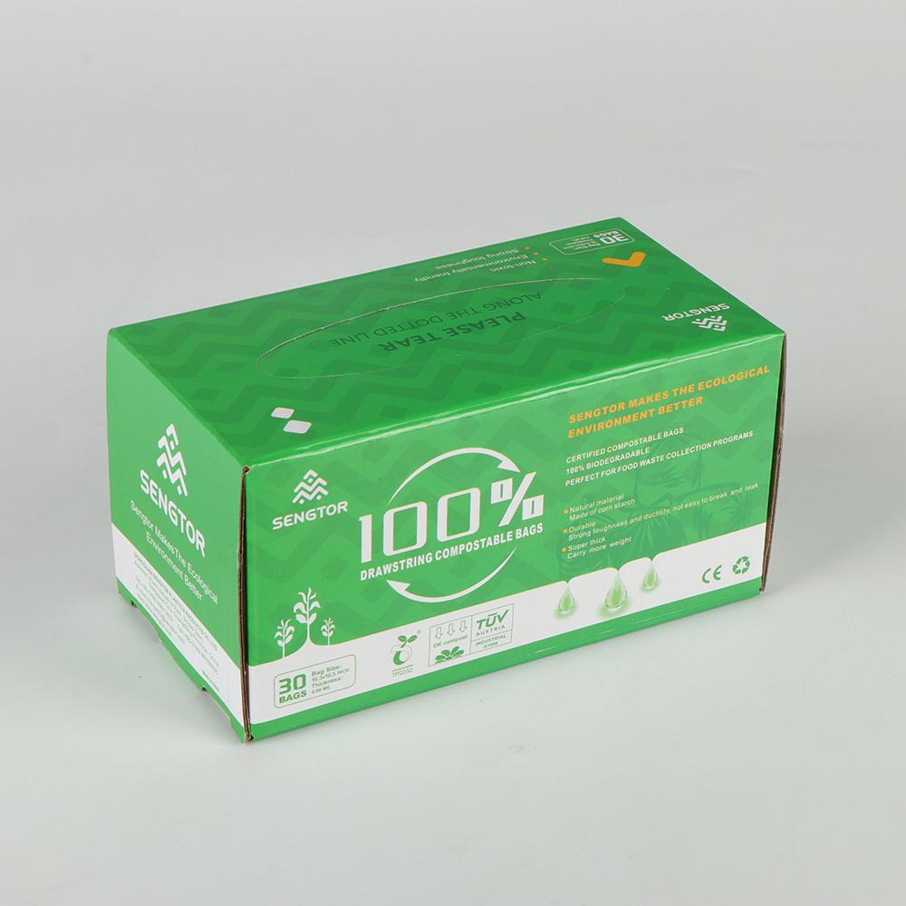 100% Biodegradable Garbage Bag – Drawstring Compostable Waste Bags
