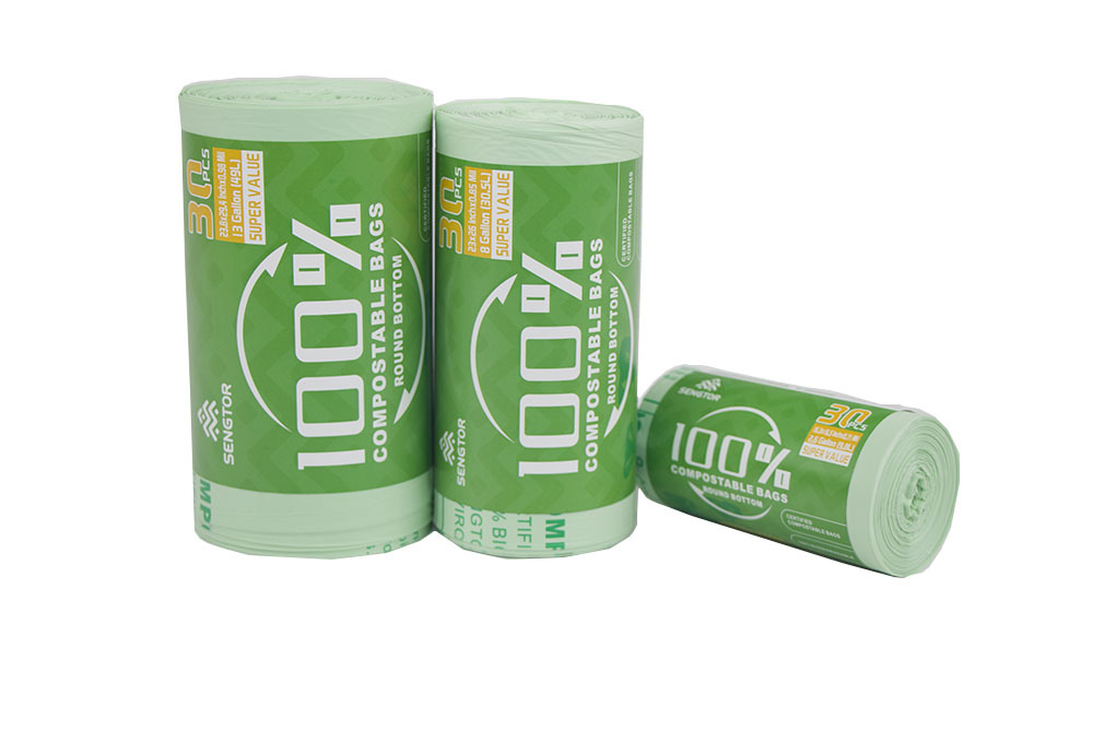 Fully biodegradable garbage bags (30 pieces / roll)