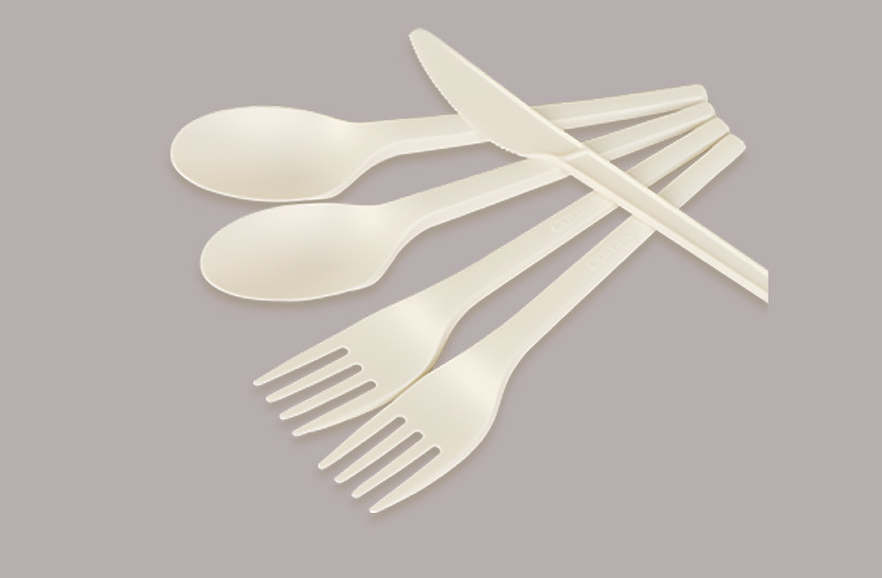 Fully biodegradable knife and fork