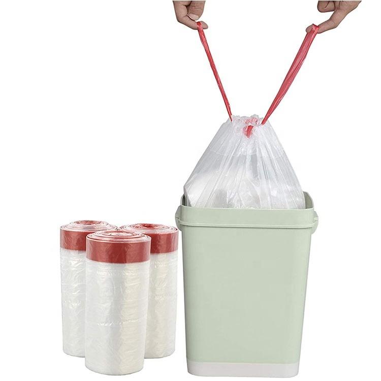 Kitchen drawstring garbage bag