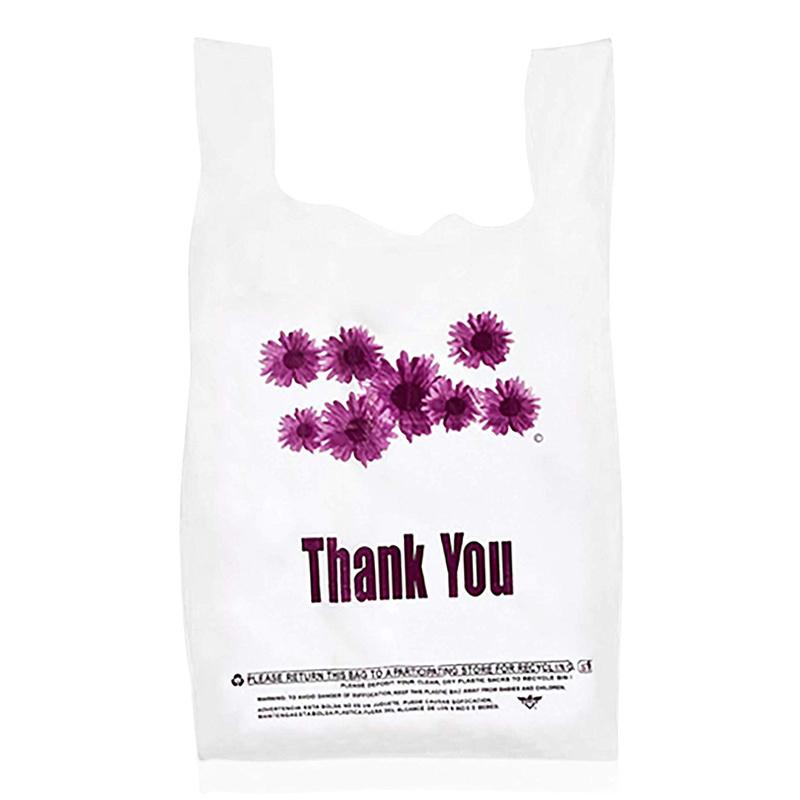 Fully biodegradable vest shopping bag