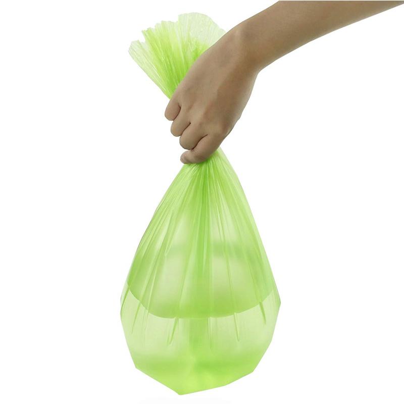 Light green household garbage bag