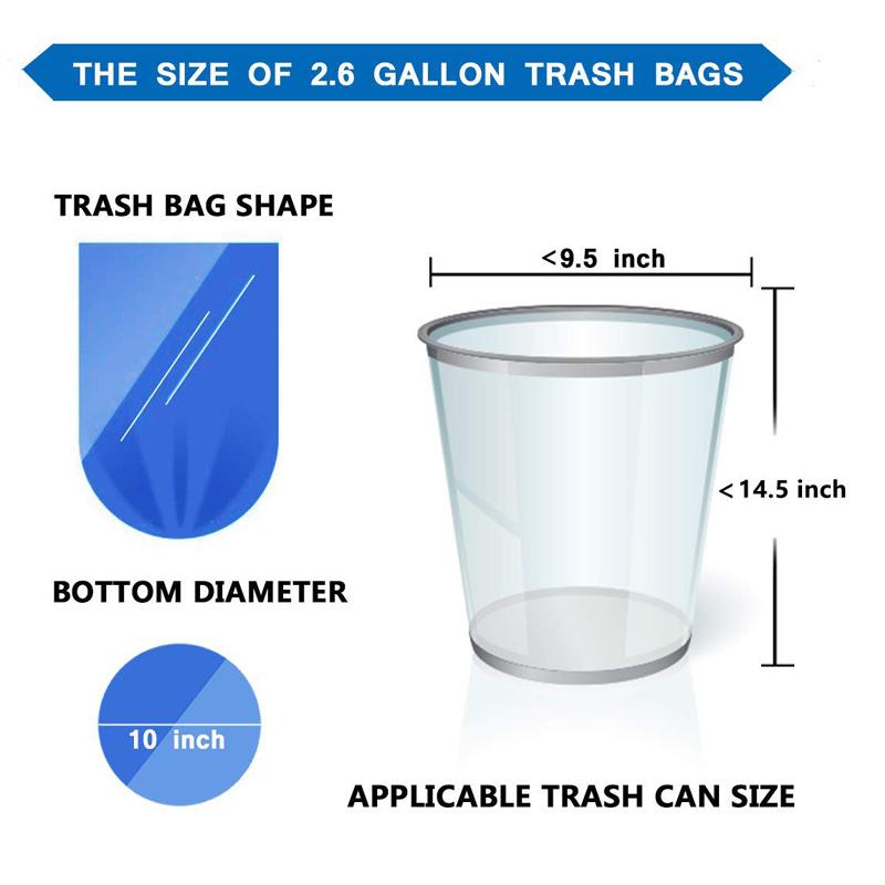 Flat mouth household garbage bag