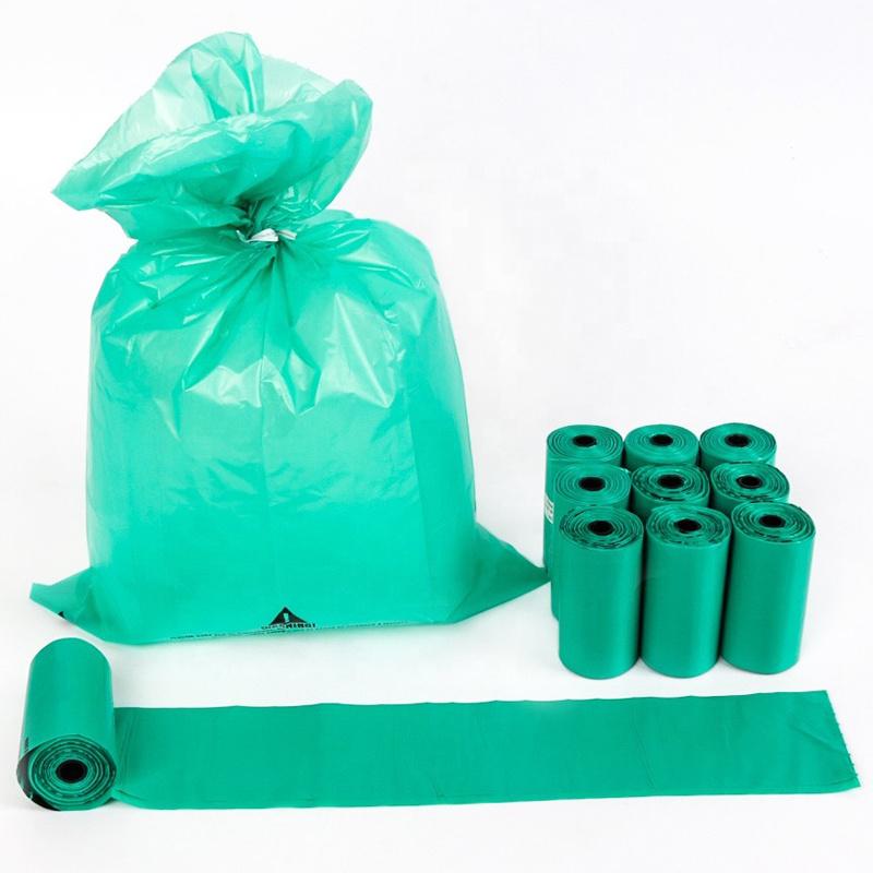 Biodegradable flat mouth garbage bag