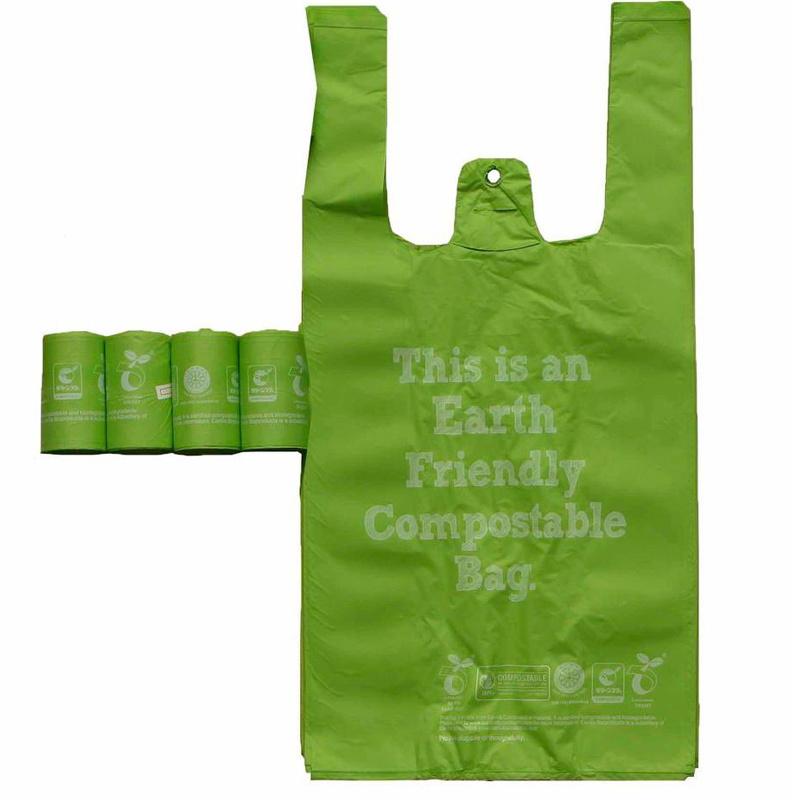 Biodegradable dark green kitchen garbage bag
