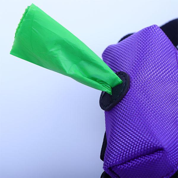 Purple packaging portable pet degradation bag
