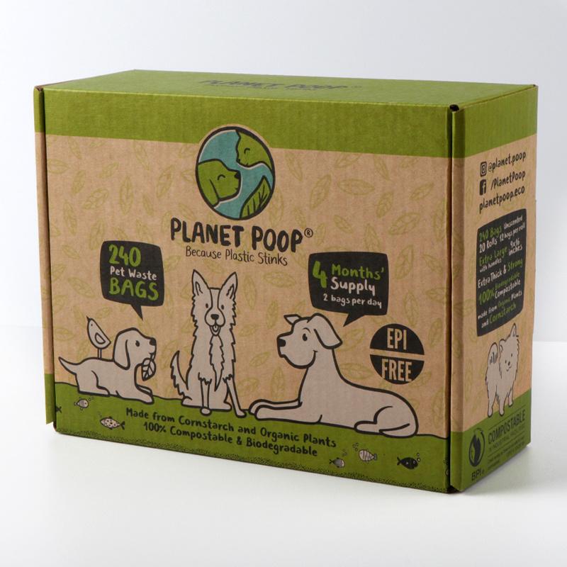 Vest type biodegradable pet bag