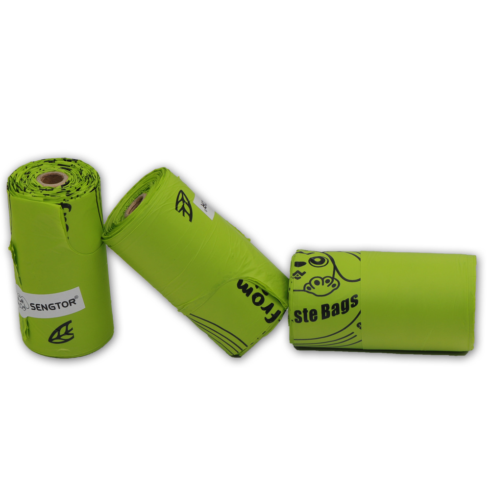 Light green biodegradable pet bag (vest type)