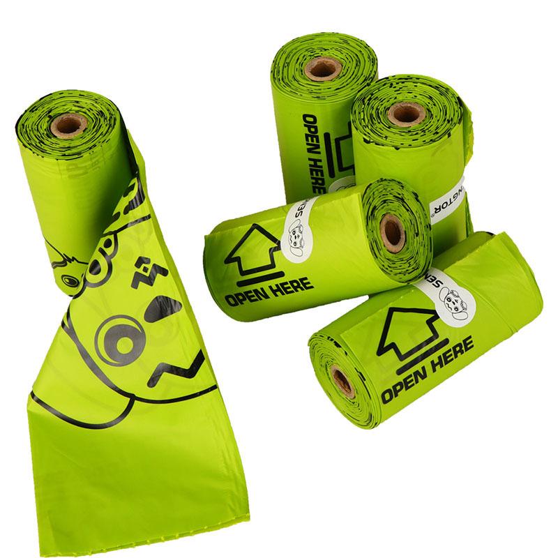 flat mouth degradable pet bag