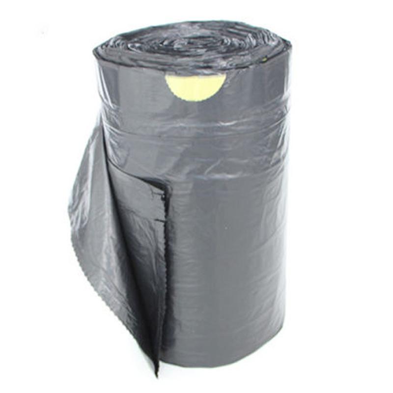 Black biodegradable garbage bag