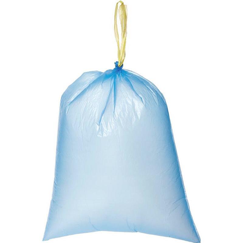Microbial degradation drawstring garbage bag