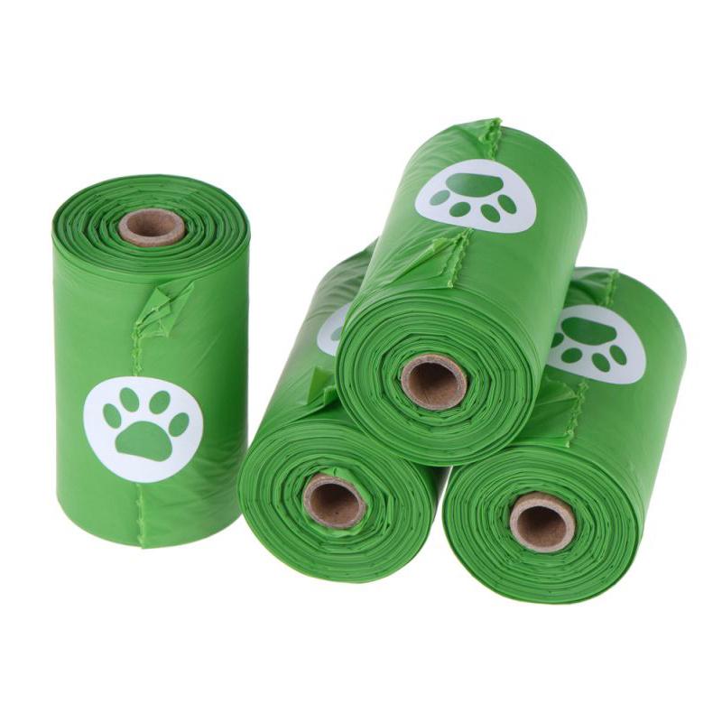 Pure green biodegradable pet bag