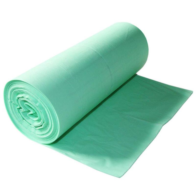 Flat mouth biodegradable garbage bag